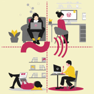 Imagen de bienvenida de la WordCamp España Online