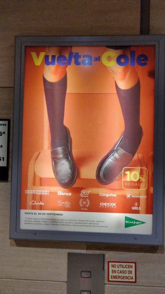 Campaña de marketing de El Corte Inglés para anunciar la Vuelta al Cole